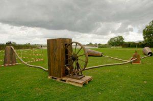 La machine à forer déployée aux abords de la Charente
